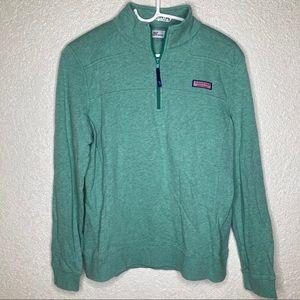 Vineyard Vines Pull Over Sweatshirt 1/3 Zip Size M